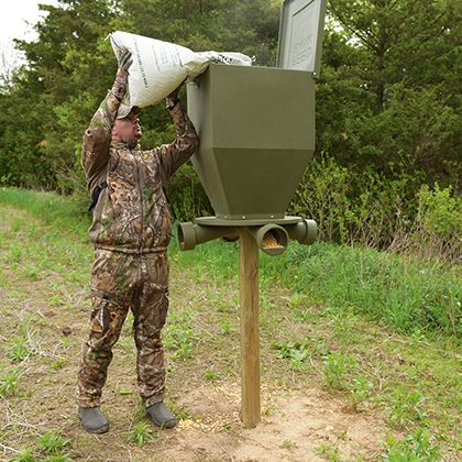 x bank for attachment feeders lb gravity feeder mazas sale outdoors feed deer capacity banks