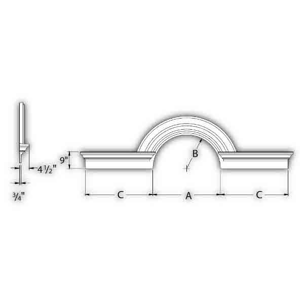 Fypon polyurethane half round arch trim 10m decorative for Painting fypon