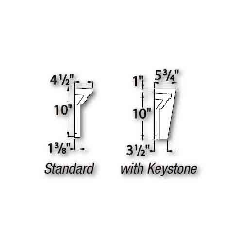 Fypon polyurethane 6 crosshead arches from for Fypon crosshead