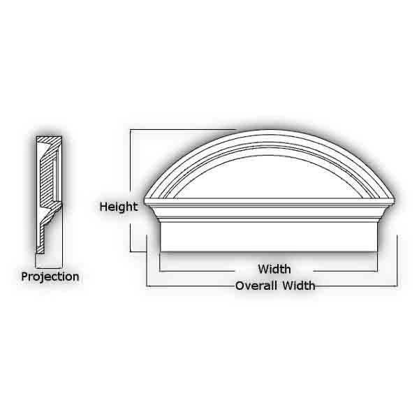 Fypon polyurethane combination segment arch pediments from for Painting fypon