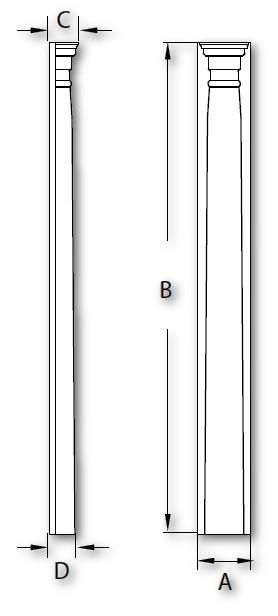 Fypon Polyurethane Adjustable Half Round Pilaster 1 Pair