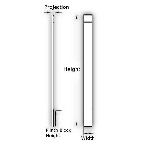 Fypon Polyurethane Plain Pilaster 1 Pair From