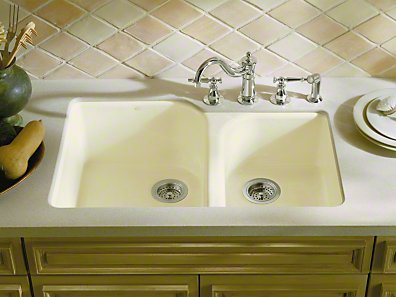 Kohler Executive Chef Double Basin Cast Iron Sink From