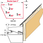 Van Mark Trim A Gutter 12/12 Pitch Box Gutter Fascia Mount Profile