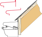Van Mark Trim A Gutter 12/12 Pitch Fascia Mount Profile