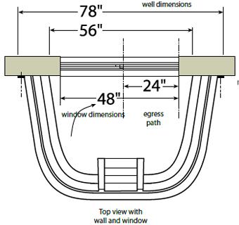 Wellcraft 2060 Series Single Unit Egress Window Well From