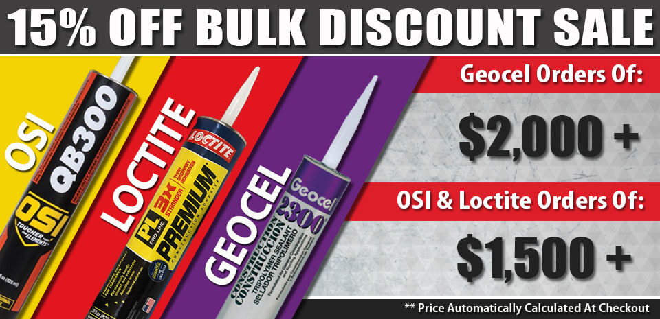OSI Loctite and Geocel Bulk Discounts
