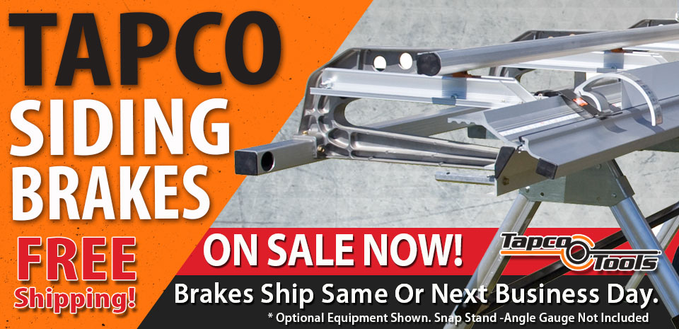 Tapco Siding Brakes Free Shipping On Sale Now 2017