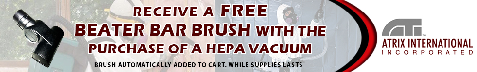 FREE Beater Bar Brush with Purchase of a HEPA Vacuum