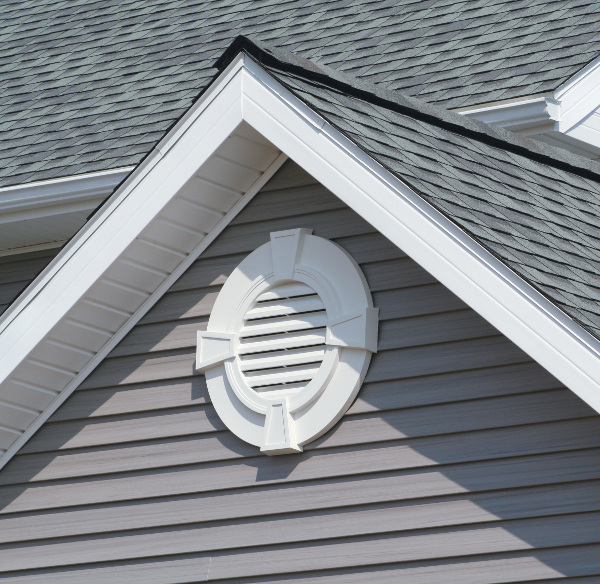 Mid-America Round Vinyl Gable Vents With Keystones From