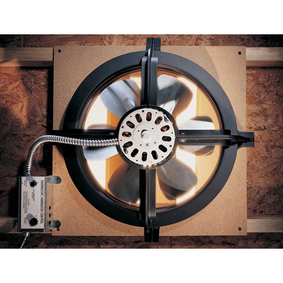 Energy Harvester Air Ventilator : Air vent gable mounted power fan from buymbs