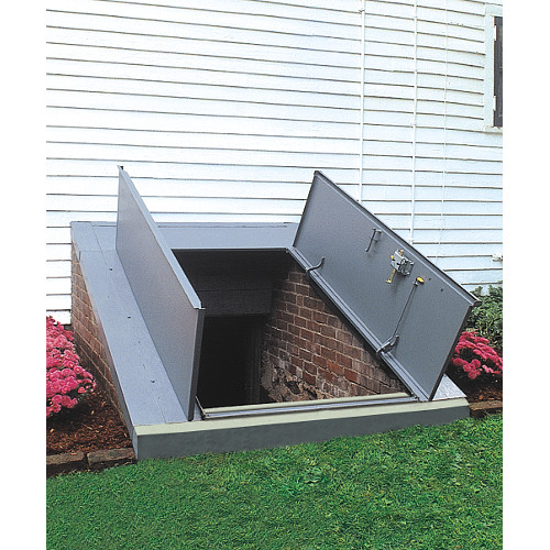 Bilco Sloped Wall Sizing Chart Bilco Sloped Wall Basement Doors Installed  ...