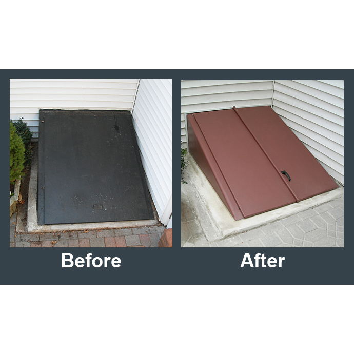 Caulking Bulkhead Doors & Driftwood Polyethylene Cellar