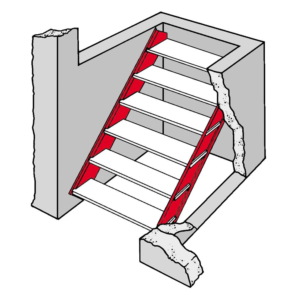 Bilco Basement Door Galvanized Steel Stair Stringers From