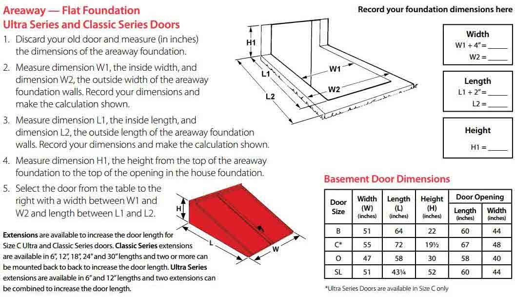Bilco Classic Series Powder Coated Basement Door