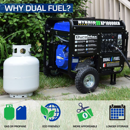 DuroMax XP10000EH Dual Fuel Electric Start Generator