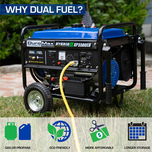 DuroMax XP5500EH Dual Fuel Electric Start Generator