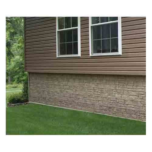 The foundry 10 vinyl limestone panel 1 2 square from for What is 1 square of vinyl siding
