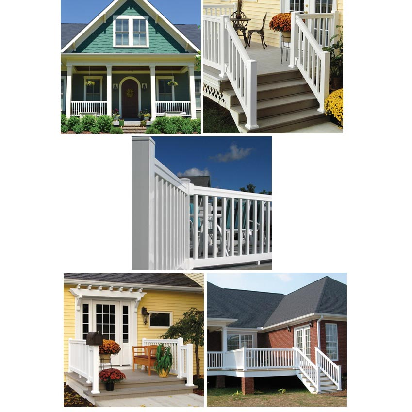 Fypon vinyl quickrail straight and stair kits from for Fypon railing