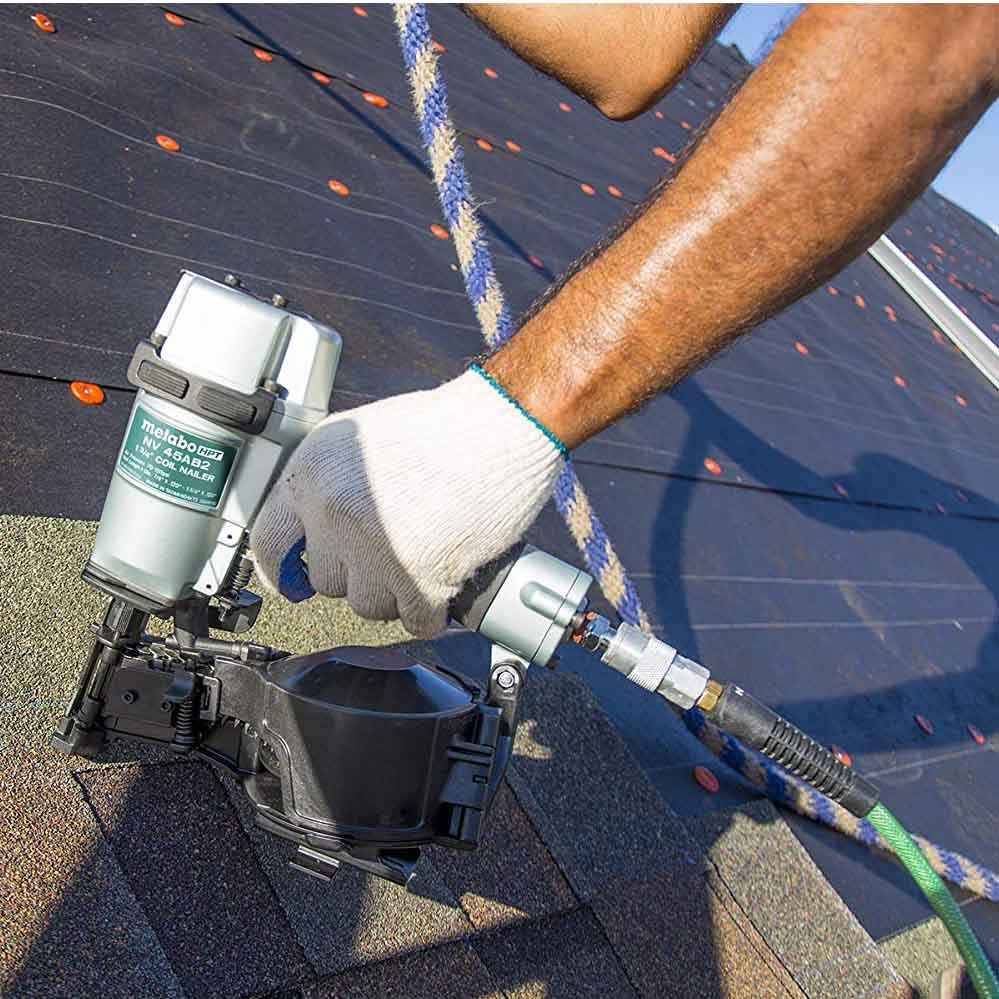 Hitachi Roofing Nailer Action