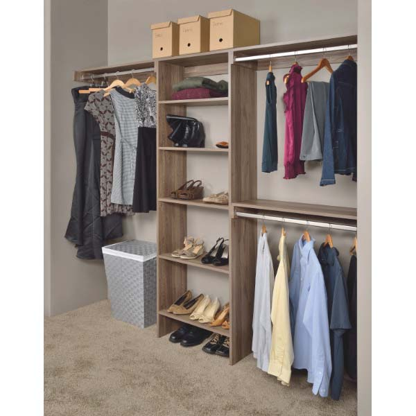 Woodtrac by sauder closets up to 10 feet with 24in for Woodtrac closets