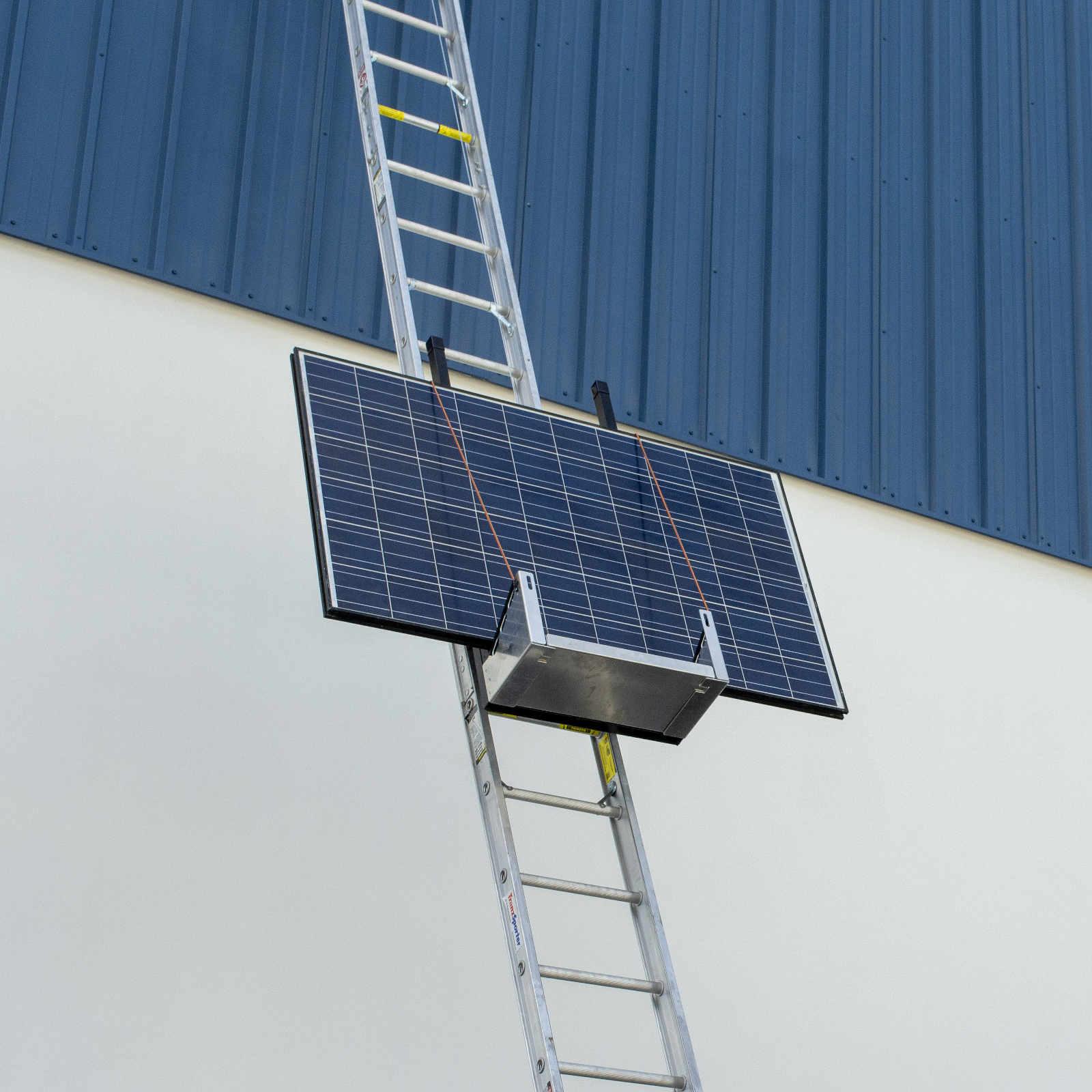 Solar Panel Raised