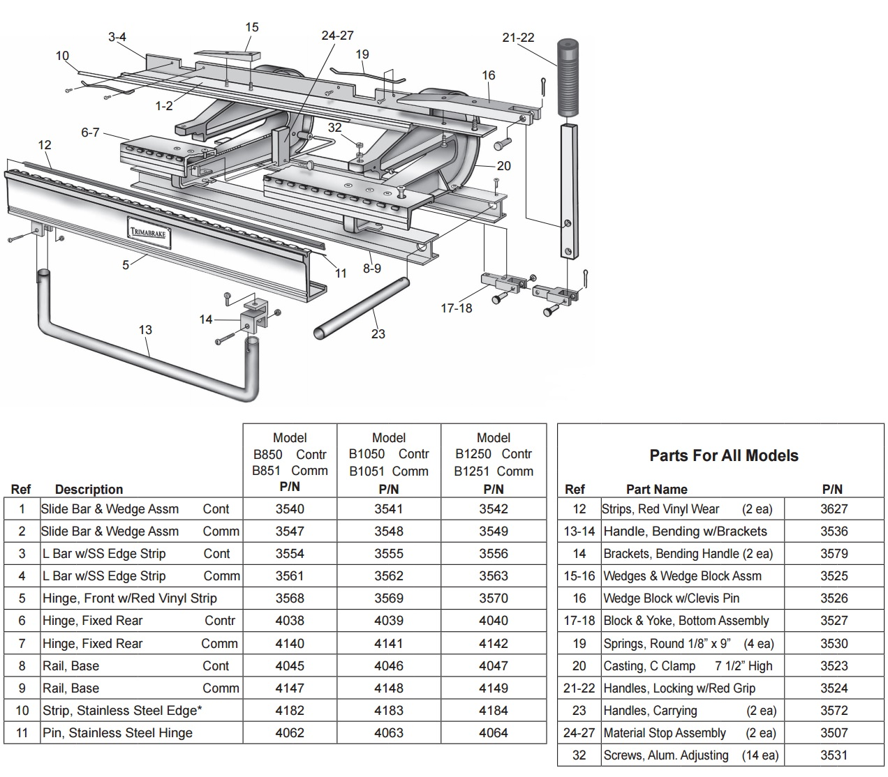 Van mark trim a brake i from buymbs specifications blown up diagram pooptronica