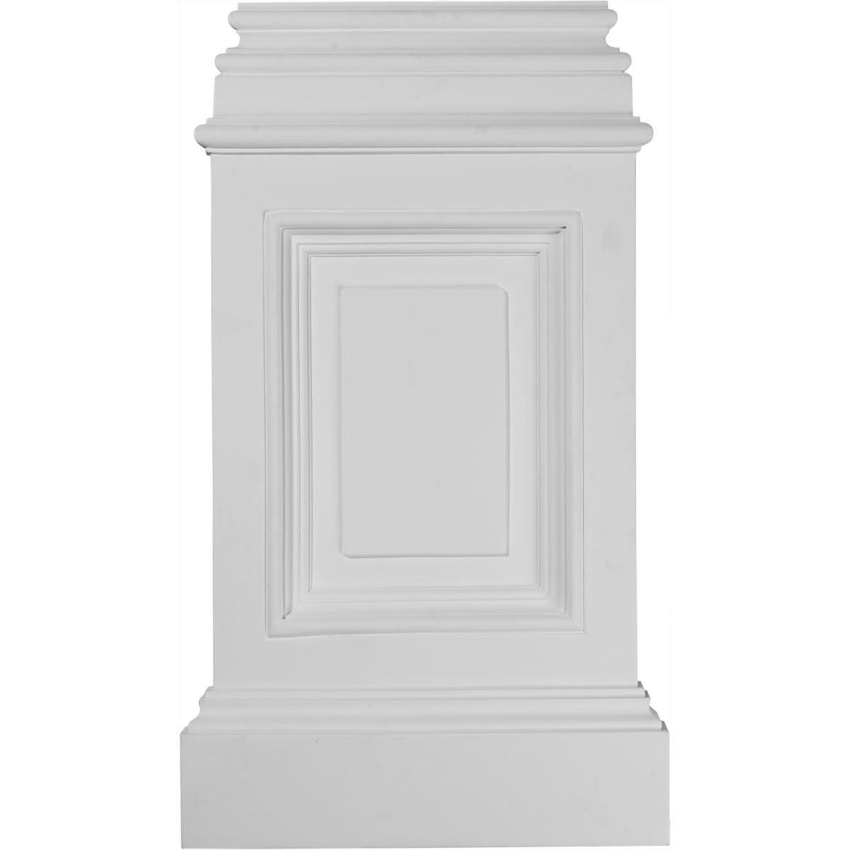 Ekena millwork classic pedestal base from for Urethane millwork