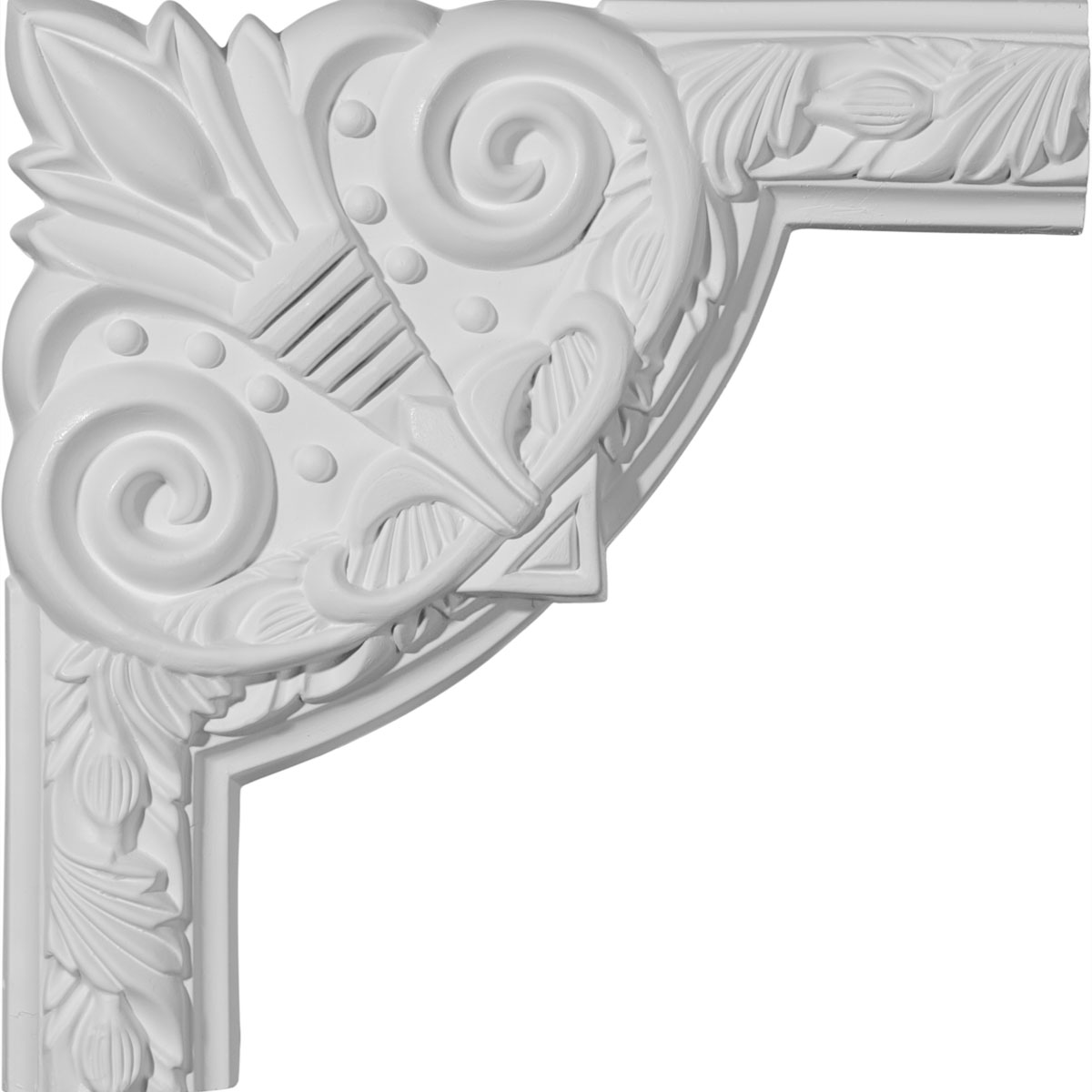 Ekena Millwork Polyurethane Panel Moulding Corner 9in  from BuyMBS com