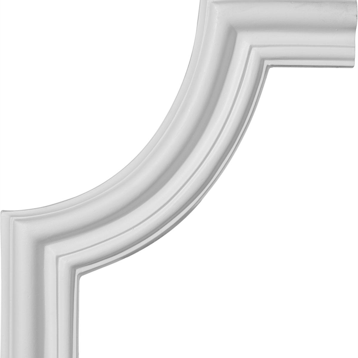 Ekena millwork polyurethane panel moulding corner 10in for Polyurethane millwork