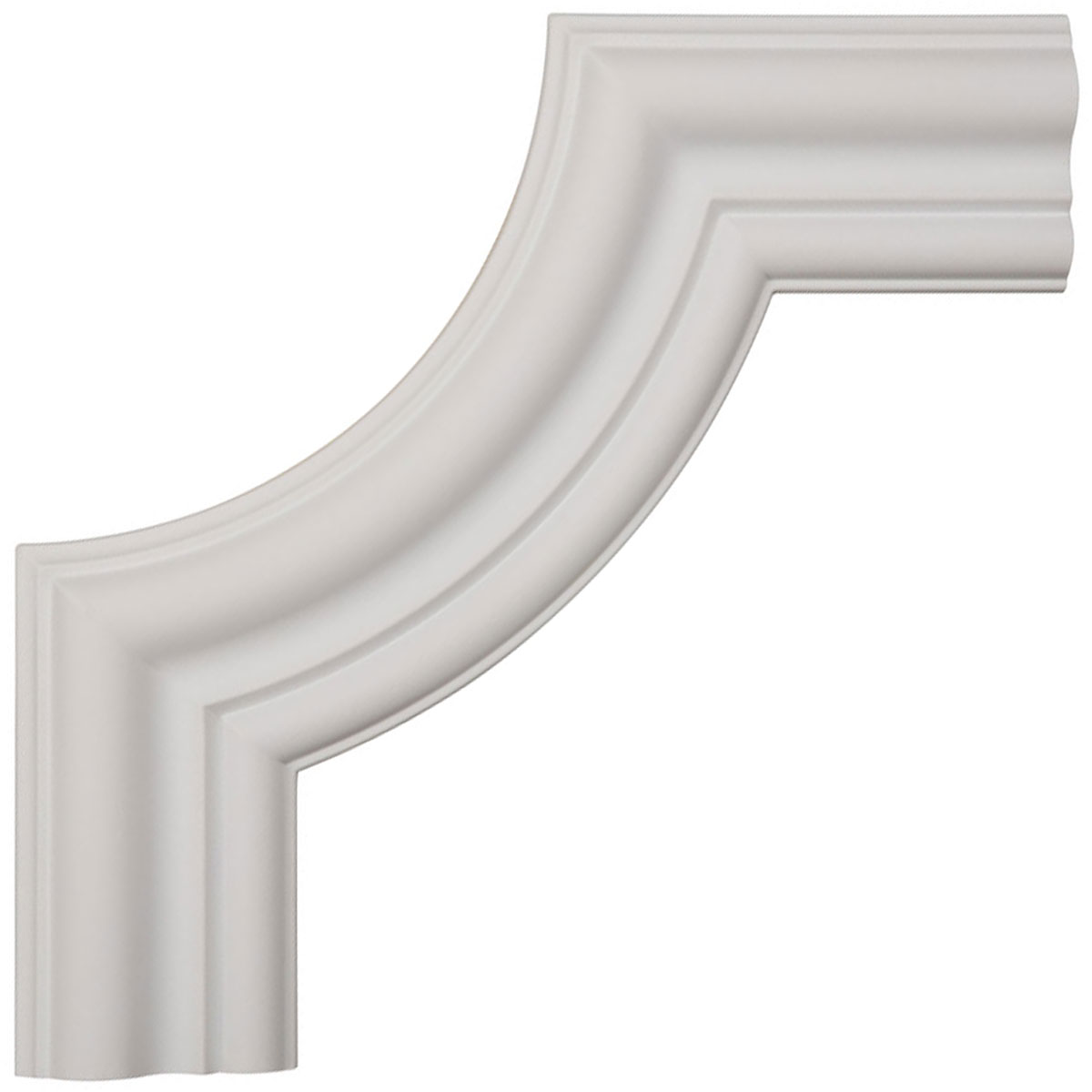 Ekena millwork polyurethane panel moulding corner 12in for Polyurethane millwork
