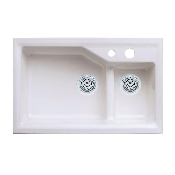 Kohler Indio Smart Divide Double Basin Cast Iron Sink