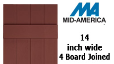"Mid-America Custom Board -N- Batten Vinyl Shutter 14"" 4 Board Spaced"