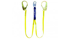 Guardian Fall Protection Single Leg Big Boss Extended Free Fall Lanyard w/ SS-L12 Shock Pack