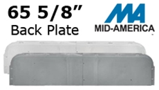 "Mid-America 65 5/8"" J-Channel 6"" Back-Plate"