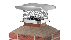 "HY-C Chimney Flue Covers - 5/8"" Mesh Stainless Steel"
