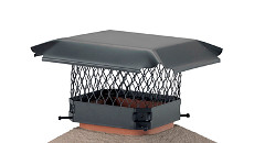 "HY-C Chimney Flue Covers - 5/8"" Mesh Black-Painted Galvanized Steel"