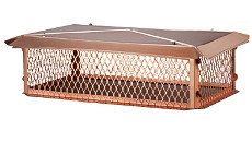 HY-C Big Top Chimney Multi-Flue Covers - Copper