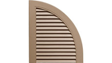 Mid America Shutter Top Quarter Round Arch Top 14-1/2in. Open Louvered