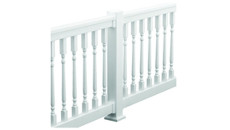 Fypon Vinyl PVC Straight and Stair Quick Rail Kits