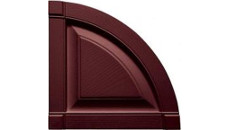 Mid America Vinyl Shutter Top Quarter Round Arch Top Raised Panel