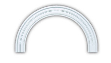 Fypon Polyurethane Half Round Arch Trim (6M Decorative)