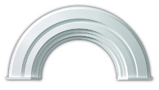 Fypon Polyurethane Half Round Arch Trim (10M Decorative)