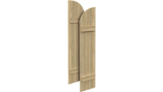 Fypon Polyurethane Timber Arch Top Shutter