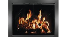 Thermo-Rite Chalet Anodized Black Fireplace Door