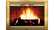 Thermo-Rite Regal Brass Plated Fireplace Door