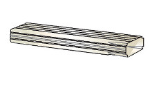 Quality Aluminum CP8 2 in.x3 in. 8 ft. Long Conductor Pipe