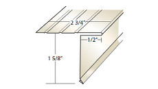 Quality Aluminum ADE34 1 5/8 in. Face Drip Edge