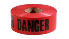 C & R Red Danger Tape