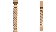 Ekena Millwork Hamilton Rope Cabinet Column From Buymbs Com